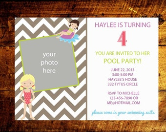 girl birthday invitations, kids birthday invitations, birthday party invitations, birthday invites, birthday invitations