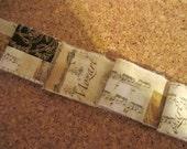 French Inspired Ribbon, Mozart Music Trim, Music Ribbon Trim, Vintage Inspired Ribbon, Music Notes Ribbon, Ribbon Paris France, Limited, ECS
