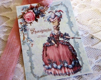 French Gift Tags, Antoinette Gift Tags, Versailles Gift Tags, French Market Style, Marie Antoinette Photograph,  Gift Tags, ECS