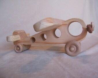 Toy Passenger Plane for Children, Little Kids, Boys, Girls, Handcrafted from Reclaimed Wood