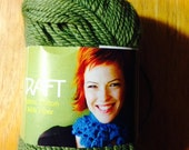 SWTC Vickie Howell CRAFT Yarn Cotton and Milk Fiber in Olive GREEN