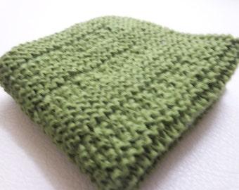 1 Pcs Green Cotton Crochet  Dishcloths...Crochet Wash cloth..Crochet Pattern ...Crochet bath and beauty...Crochet Kitchen Cleaning