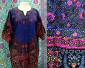 Vintage Dashiki Shirt with Pockets