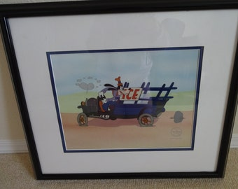 Disney Certified Sericel  Goofy Moving Day   Christmas Gift   Disney Collectibles  Sericel Certified   Goof Moving Day Photo