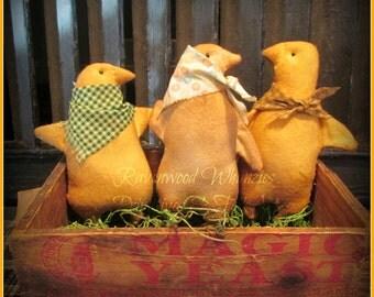 Set of Primitive Easter Chicks - Made to Order