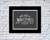 Our God is a Mighty Fortress Color Print