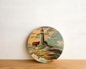 Paint by Number Art Block 'Lighthouse Sunset' - sailing, seascape, vintage art