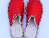special for eugeniamadianou  -  red felt slippers