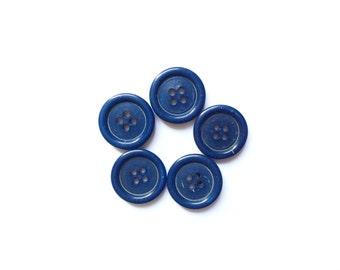 5 Vintage Blue Vintage Buttons