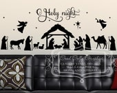 Nativity decal set - O Holy night - Christmas scene decal - Baby Jesus decal - Nativity decal