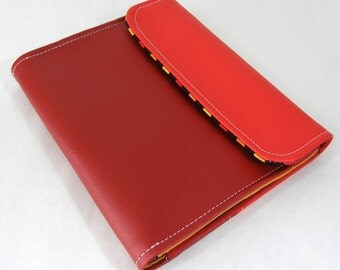 Vegan iPad Sleeve Tasca, iPad case in red