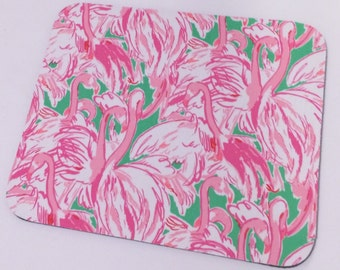 Lilly Pulitzer fabric mouse pad Pink Colony