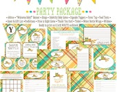 owl baby shower party package item 1216 package Matching games, ticket, banner, bingo, thank you card, water bottle wraps, cupcake toppers