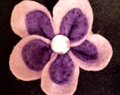Purple Felt Flower Hair Pin