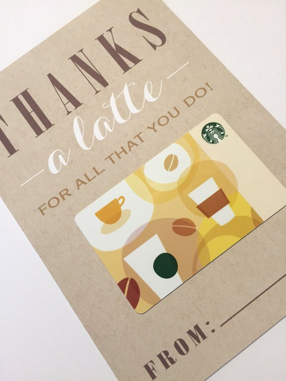 Teacher gift 5x7 thanks a latte for all that you do Thanks for all you do gifts