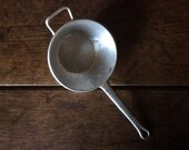 Vintage French small bowl aluminum colander sieve drainer circa 1970's / English Shop