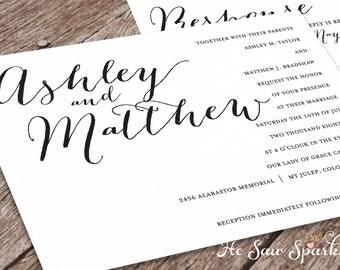 Printable Wedding Invitation - Eternity