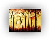 Huge Unstretched Tree Painting - 54 x 72 -Original painting - Skye Taylor