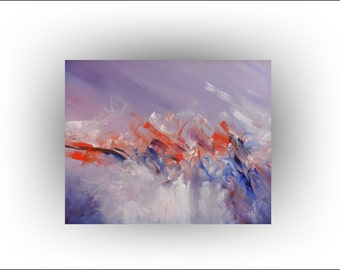 Abstract Painting Original Palette Knife Painting Modern Painting Lavender Painting Art by Skye Taylor 30 x24 Abstract Painting