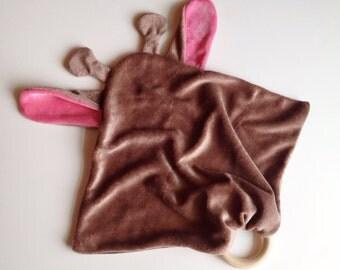 Alskar Baby OBV Giraffe Teething Lovie Cuddle Blanket