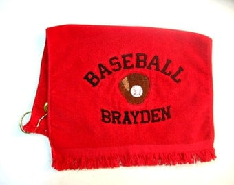 Sports towel for baseball