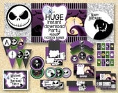 BIRTHDAY Nightmare Before Christmas Party, Printable Party Pack, Jack Skelington, Instant Download, Halloween printable, fall printable