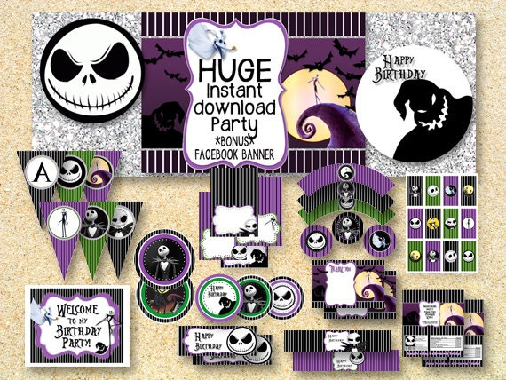 BIRTHDAY Nightmare Before Christmas Party Printable Party