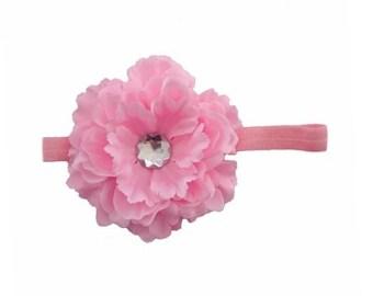 Pink Peony Headband