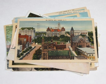 12 Vintage Albany New York Postcards Used