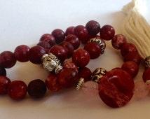 Turkish Islamic 33 Prayer Beads, Tesbih, Tasbih, Misbaha, Sufi, Worry Beads, Relaxation, Pocket Beads - Rhodochrosite, Love, Balance