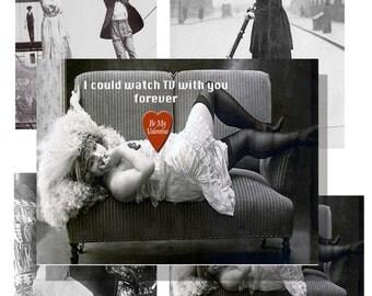 Valentines  day  cards  steampunk vintage photos  instant downloads
