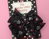 Valentine Heart Pinwheel Bow