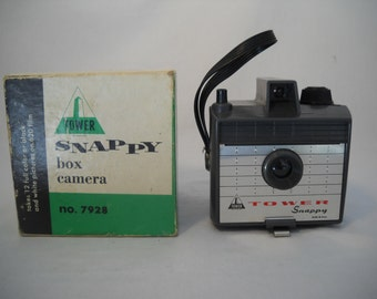 Vintage Tower Snappy Box Camera In Original Box By Sears Roebuck And Company 1960's
