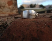 Spoon Ring Size 6.5, Silver Plated