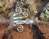 Fork Bracelet - Floral Design