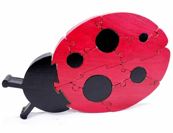 Ladybug Decor and Jigsaw Puzzle