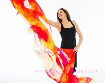 Fabulous Florescent Silk Veil -Nebula Design