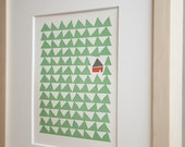 Cottage in the Woods Letterpress Print