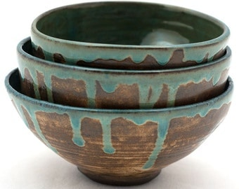Three bowls, gift, hand made ceramic, wheel thrown pottery