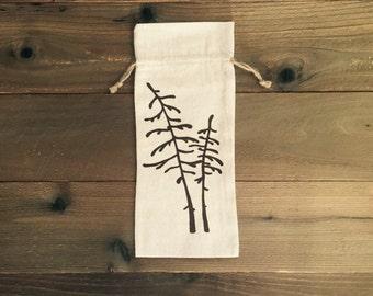 spruce tree wine bag