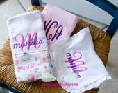 Paris Theme  - Personalized burp cloths and bib FREE SHIPPING!