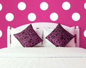 Large Vinyl Polka Dot Circle Wall Decals - Multiple sizes available! (Set of 30)