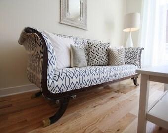 Vintage Reupholstered Sofa