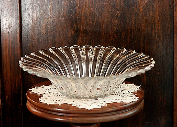 Vintage 1937-57 Elegant HEISEY CRYSTOLITE Flared Serving Console Bowl 10.25 Inch