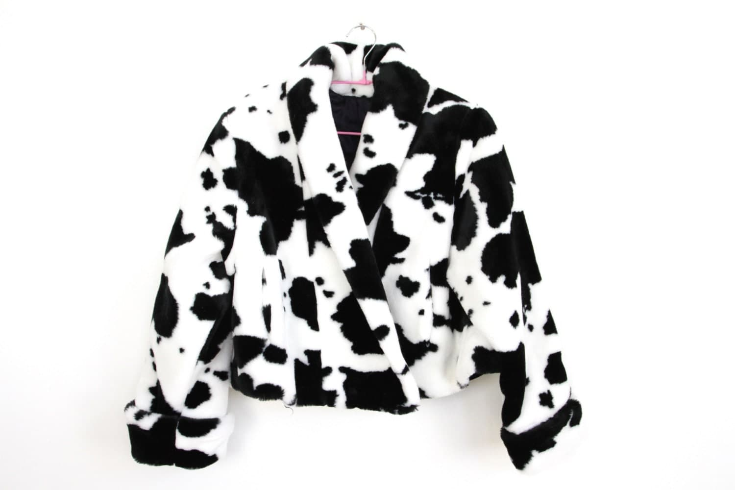 90s punk POP Furry COW Jacket by BonyPonyTrappings on Etsy