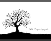 Tree Silhouette Sympathy Card