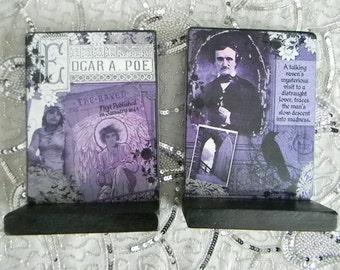 Edgar Allan Poe The Raven Decorative Bookends