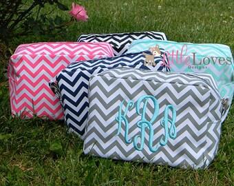 Bridesmaid Gift- Monogrammed Makeup Bag- Makeup Bag- Monogrammed Toiletry Bag- Monogrammed Costmetic Bag- Personalized Cosmetic Bags