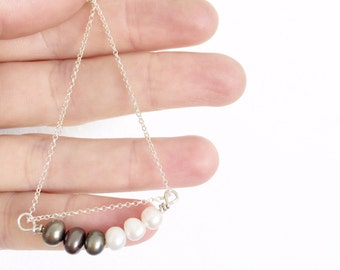 pearl necklace black and white pearl necklace freshwater pearl pendant