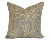 Agate Taupe and Gold Pillow Cover (Single-Sided) - Made-to-Order